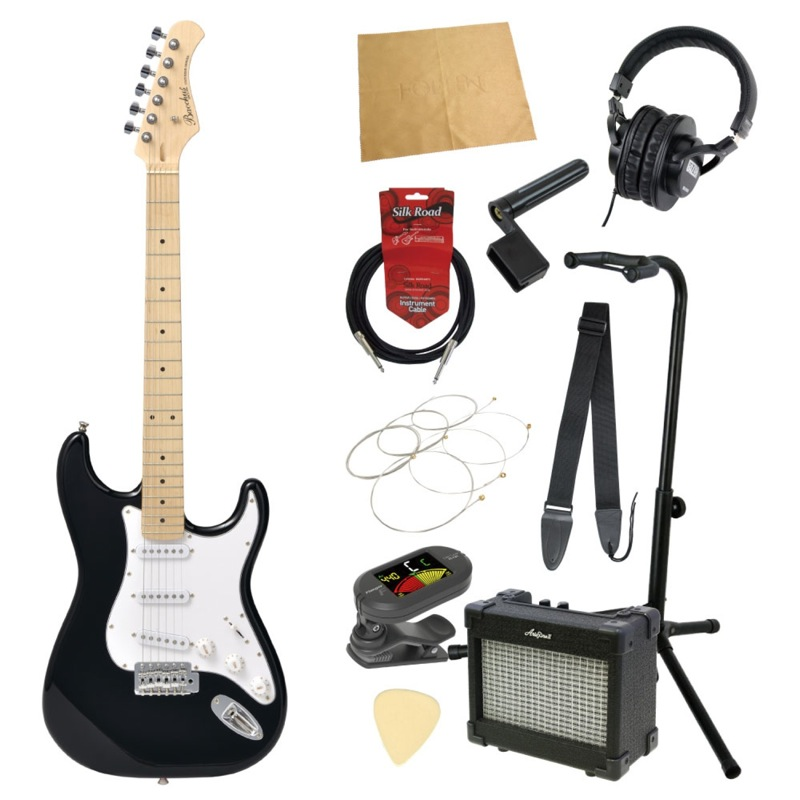 エレキギター入門11点セット BACCHUS BST-1M BLK
