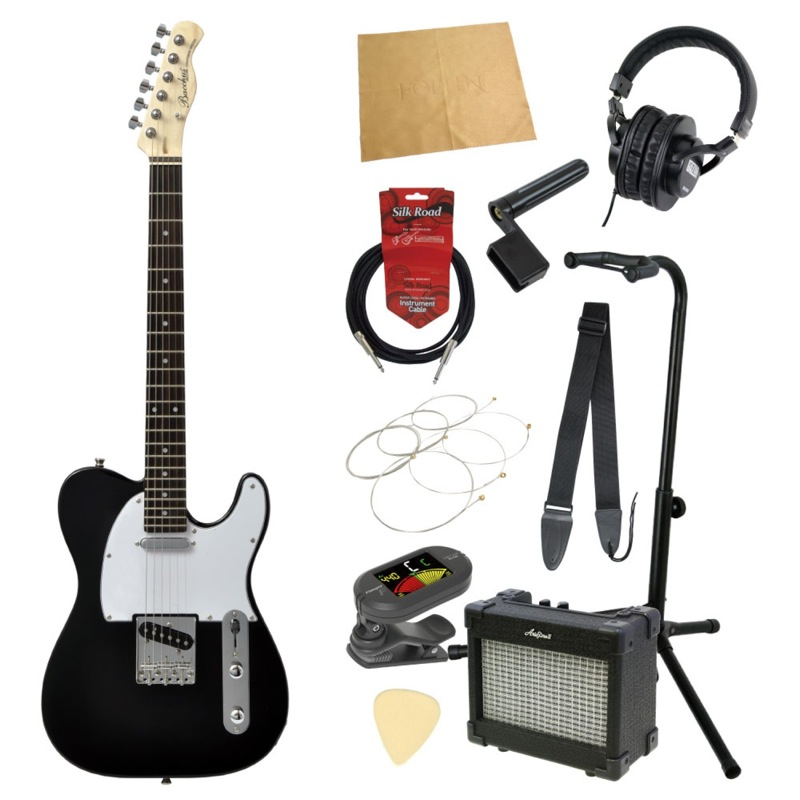 エレキギター入門11点セット BACCHUS BTE-1R BLK