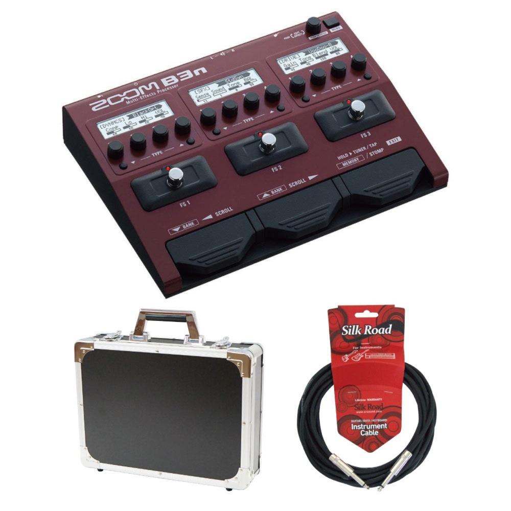 ZOOM B3n ベースマルチエフェクター Dicon Audio エフェクターケース Silk Road ギターケーブル 3メートル 3点セット
