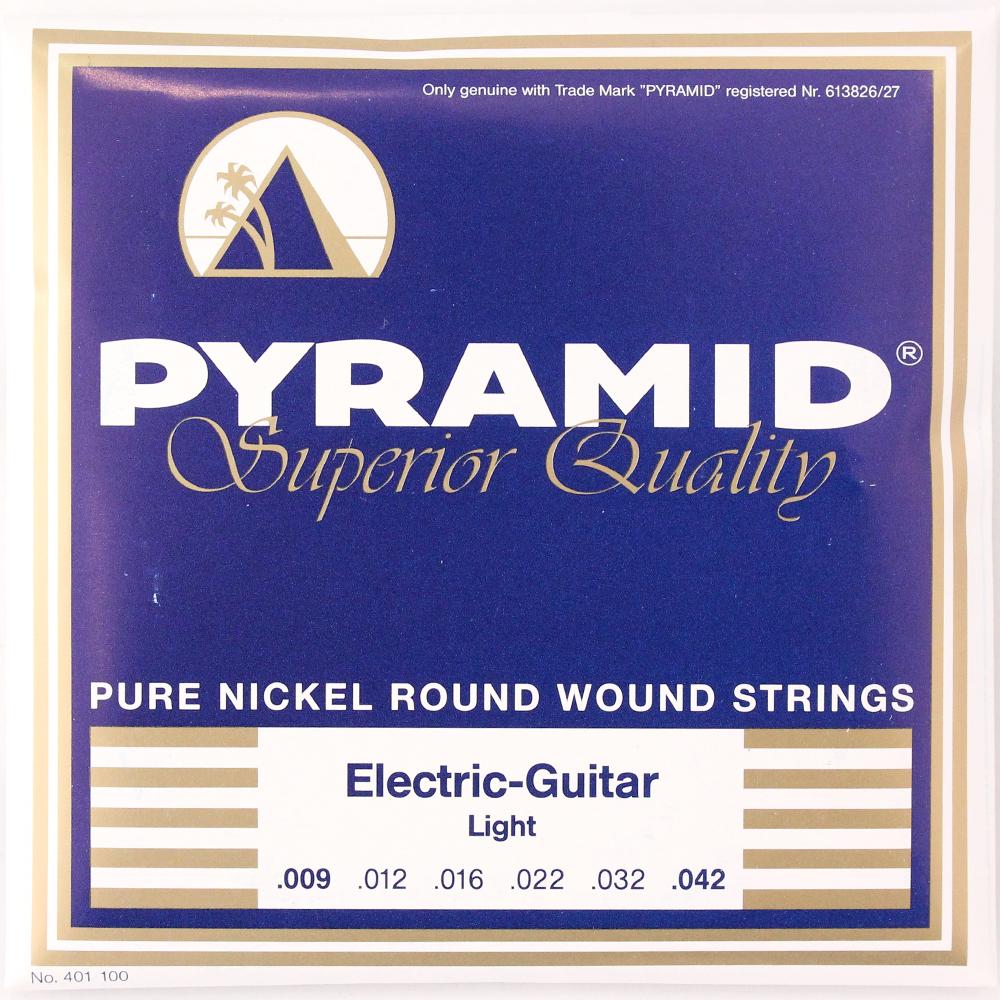 PYRAMID STRINGS EG Pure Nickel 009-042 エレキギター弦×6セット