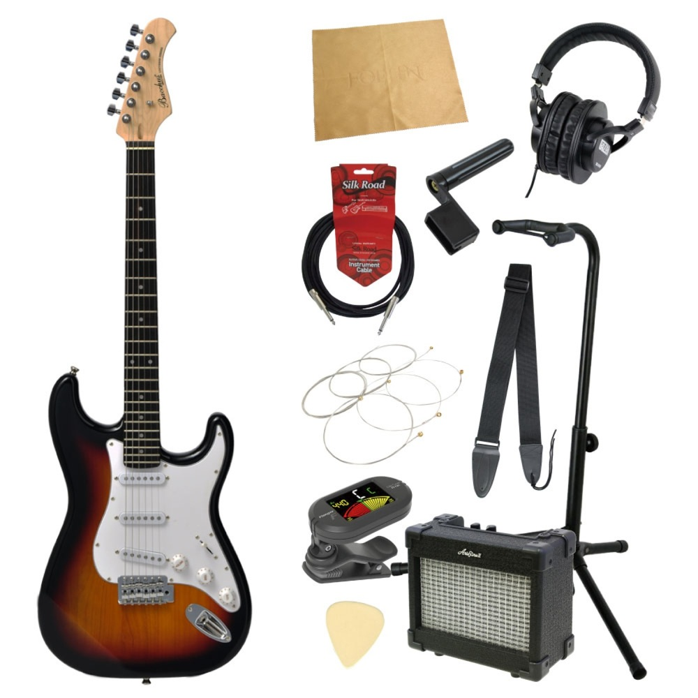 エレキギター入門11点セット BACCHUS BST-1R 3TS