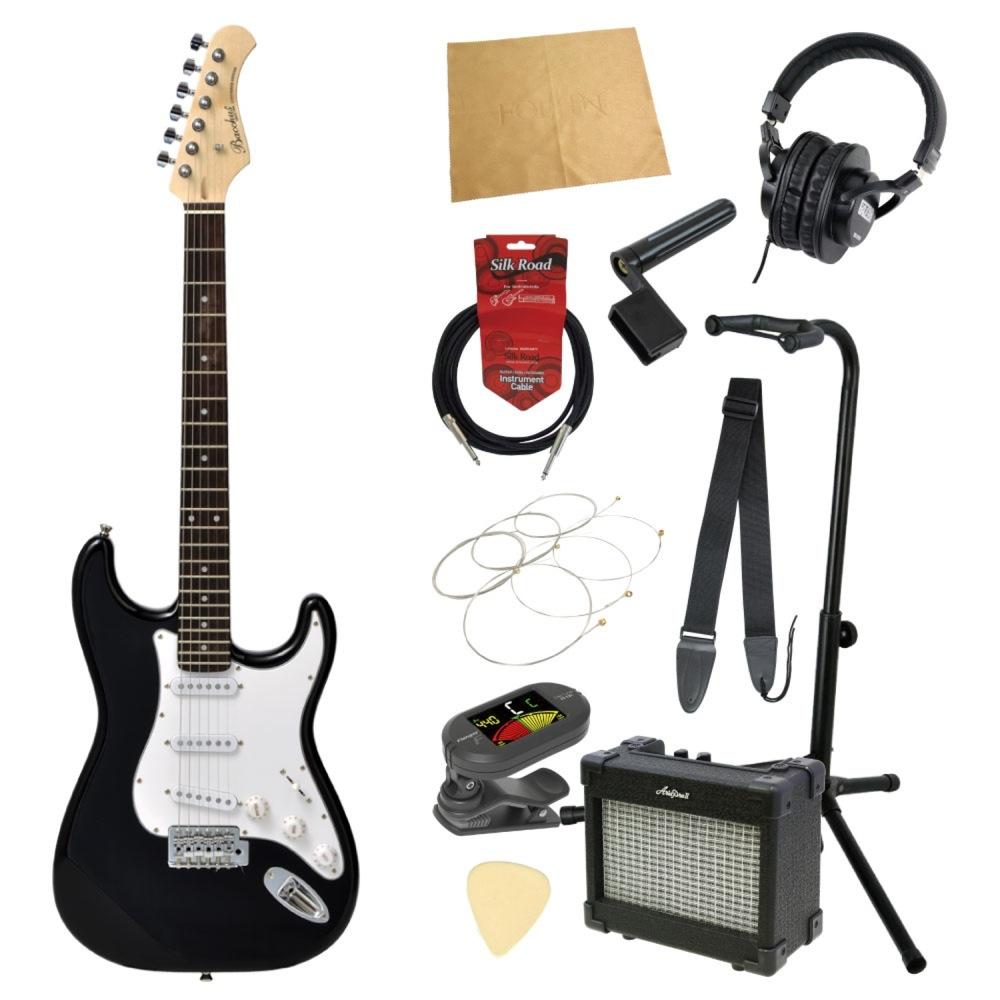 エレキギター入門11点セット BACCHUS BST-1R BLK