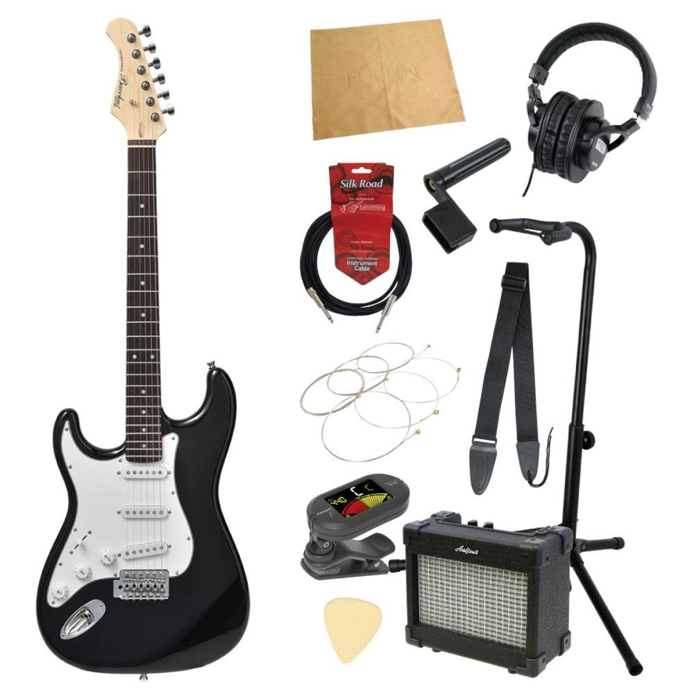 エレキギター入門11点セット BACCHUS BST-1R LH BLK