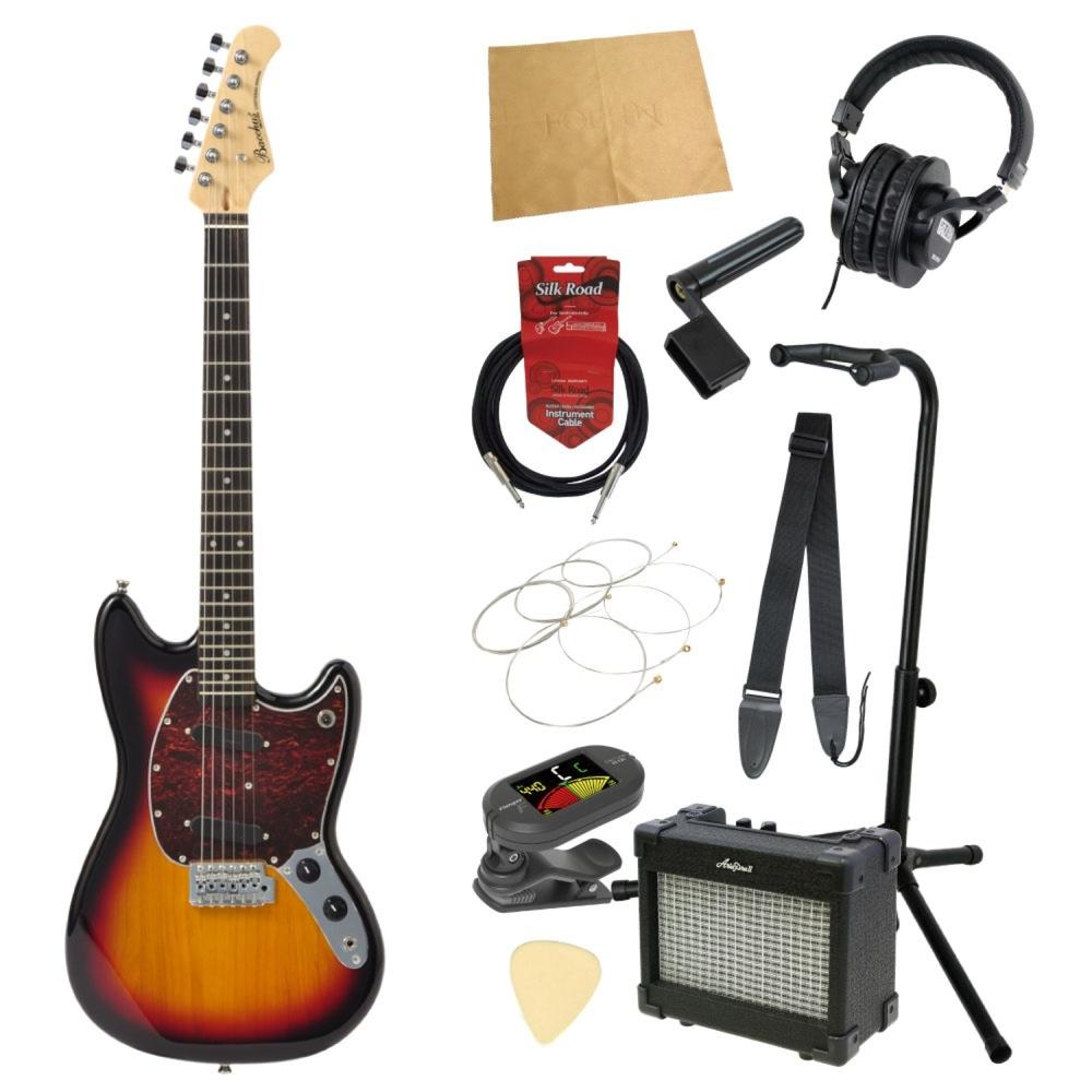 エレキギター入門11点セット BACCHUS BMS-1R 3TS