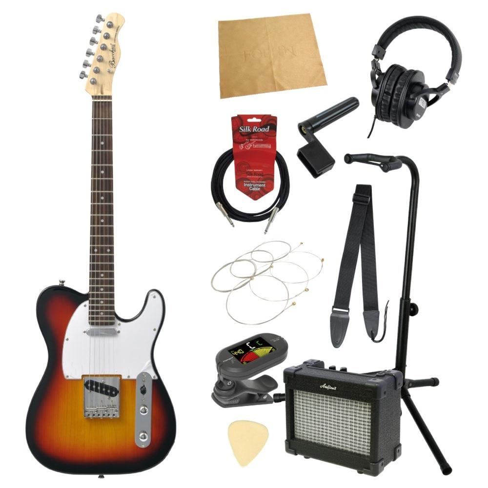 エレキギター入門11点セット BACCHUS BTE-1R 3TS