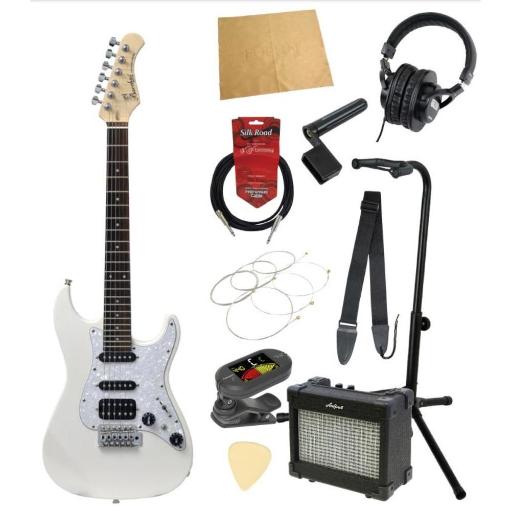 ミニエレキギター入門11点セット BACCHUS GS-Mini WH