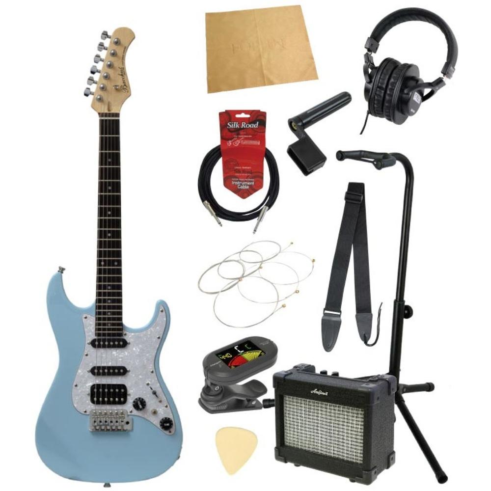 ミニエレキギター入門11点セット BACCHUS GS-Mini SOB