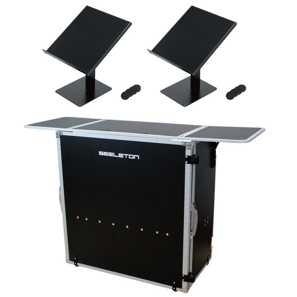 SEELETON SDJT 折りたたみ式 DJテーブル KIKUTANI DJ-CDL CDJ用スタンド×2台 3点セット