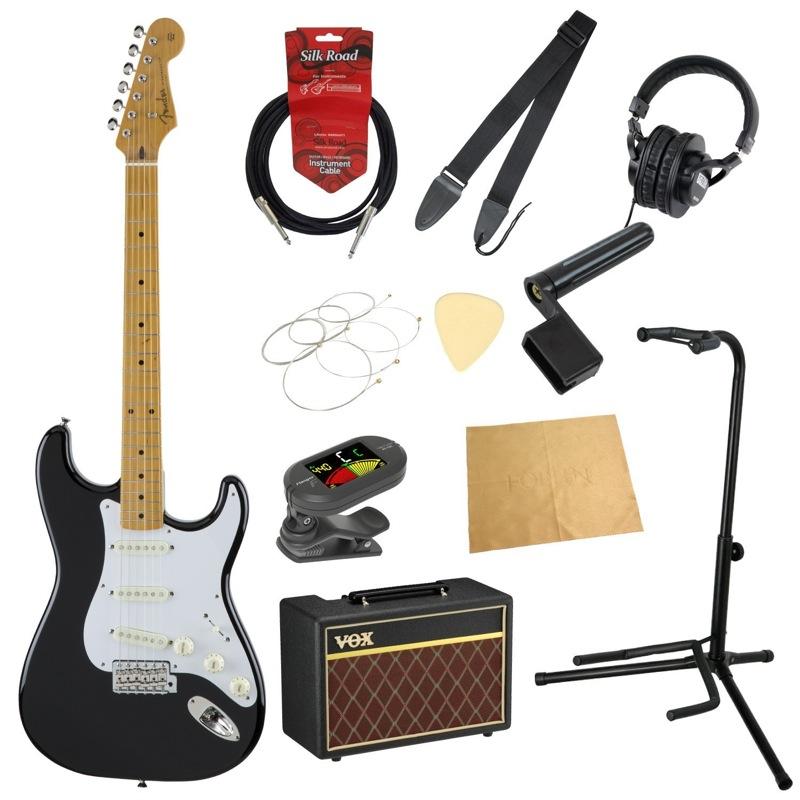 フェンダーから始める!大人の入門セット Fender Made in Japan Traditional '50s Stratocaster BLK エレキギター VOXアンプ付 11点セット
