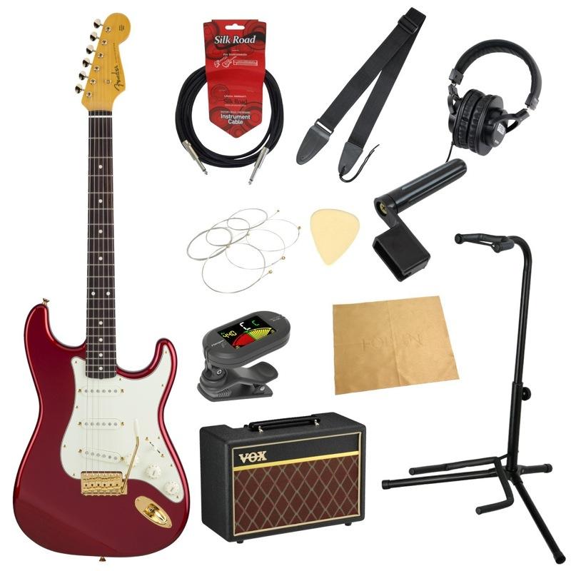 フェンダーから始める!大人の入門セット Fender Made in Japan Traditional 60s Stratocaster with GHW CAR エレキギター VOXアンプ付 11点セット