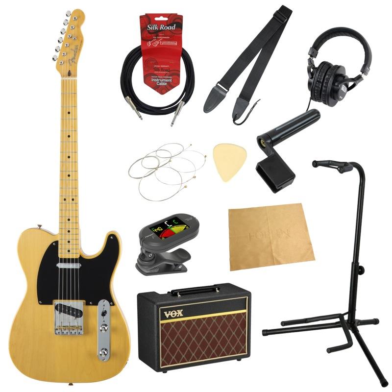 フェンダーから始める!大人の入門セット Fender Made in Japan Traditional 50s Telecaster VNT エレキギター VOXアンプ付 11点セット