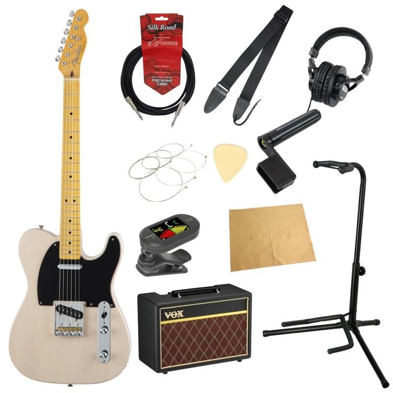フェンダーから始める!大人の入門セット Fender Made in Japan Traditional 50s Telecaster USB エレキギター VOXアンプ付 11点セット