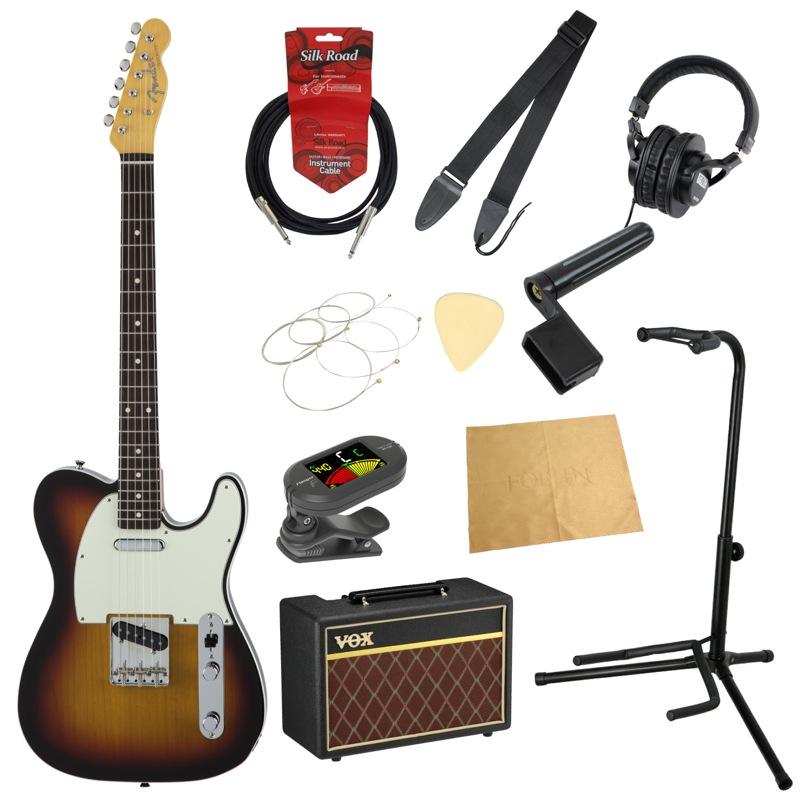 フェンダーから始める!大人の入門セット Fender Made in Japan Traditional 60s Telecaster Custom 3TSB エレキギター VOXアンプ付 11点セット