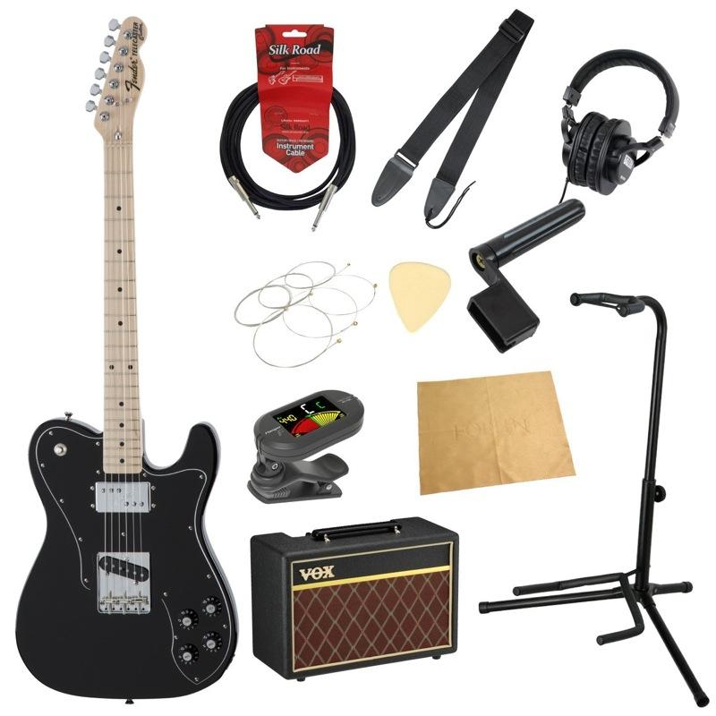 フェンダーから始める!大人の入門セット Fender Made in Japan Traditional 70s Telecaster Custom BLK エレキギター VOXアンプ付 11点セット