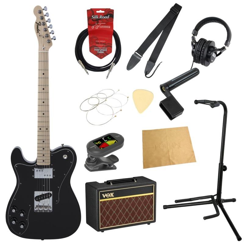 フェンダーから始める!大人の入門セット Fender Made in Japan Traditional 70s Telecaster Custom Left-Hand BLK レフティ エレキギター VOXアンプ付 11点セット