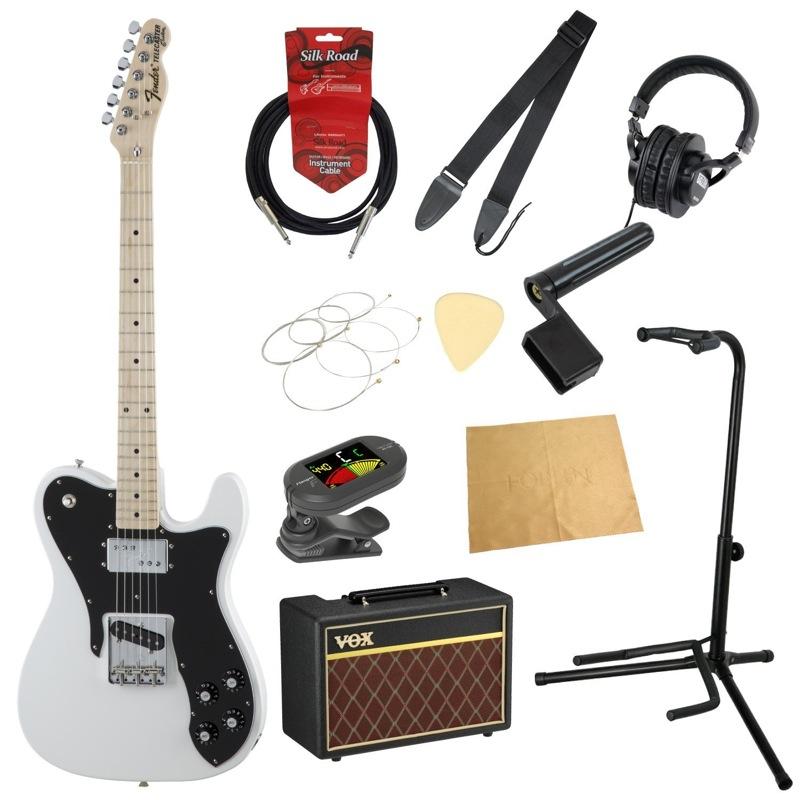 フェンダーから始める!大人の入門セット Fender Made in Japan Traditional 70s Telecaster Custom Arctic White エレキギター VOXアンプ付 11点セット