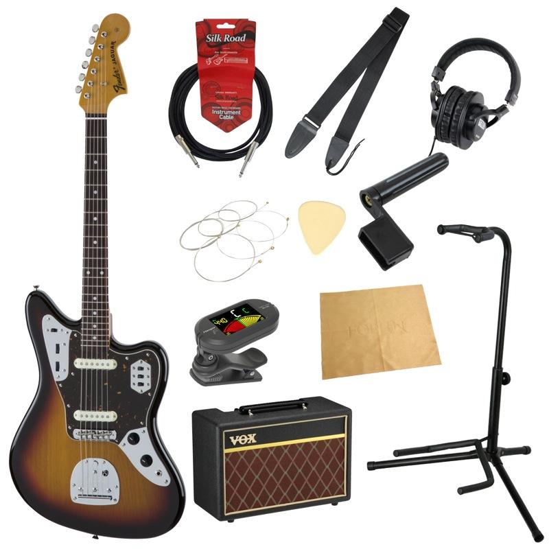 フェンダーから始める!大人の入門セット Fender Made in Japan Traditional '60s Jaguar 3TSB エレキギター VOXアンプ付 11点セット
