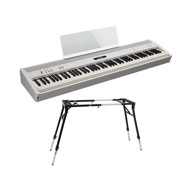ROLAND FP-60 WH Digital Piano 電子ピアノ Dicon Audio KS-060 スタンド付き セット