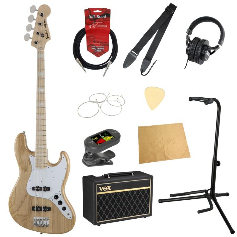 フェンダーから始める!大人の入門セット Fender Made in Japan Traditional '70s Jazz Bass NAT エレキベース VOXアンプ付 10点セット