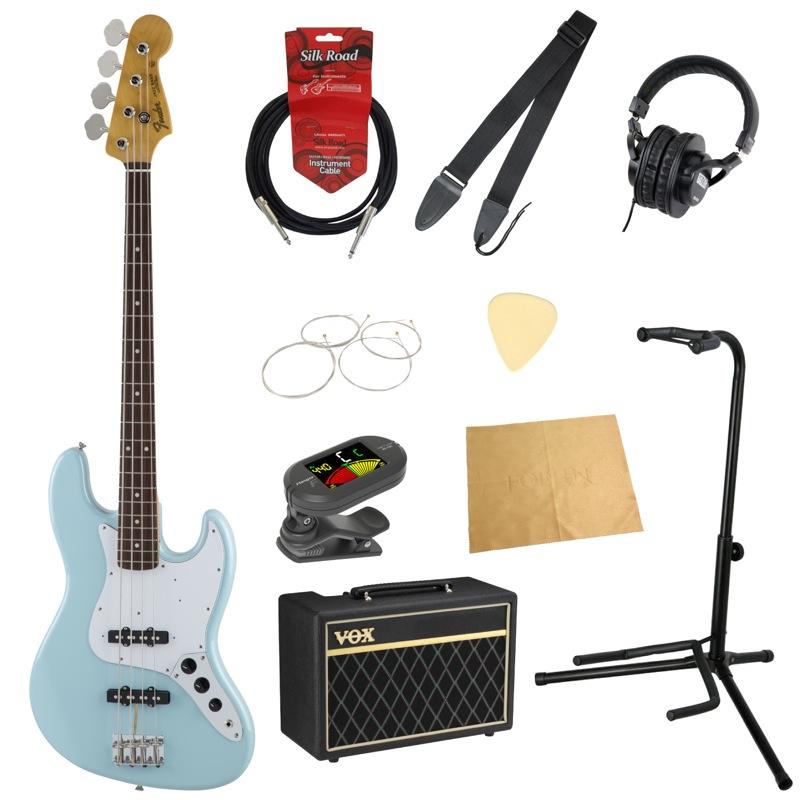 フェンダーから始める!大人の入門セット Fender Made in Japan Traditional 60s Jazz Bass SNB エレキベース VOXアンプ付 10点セット
