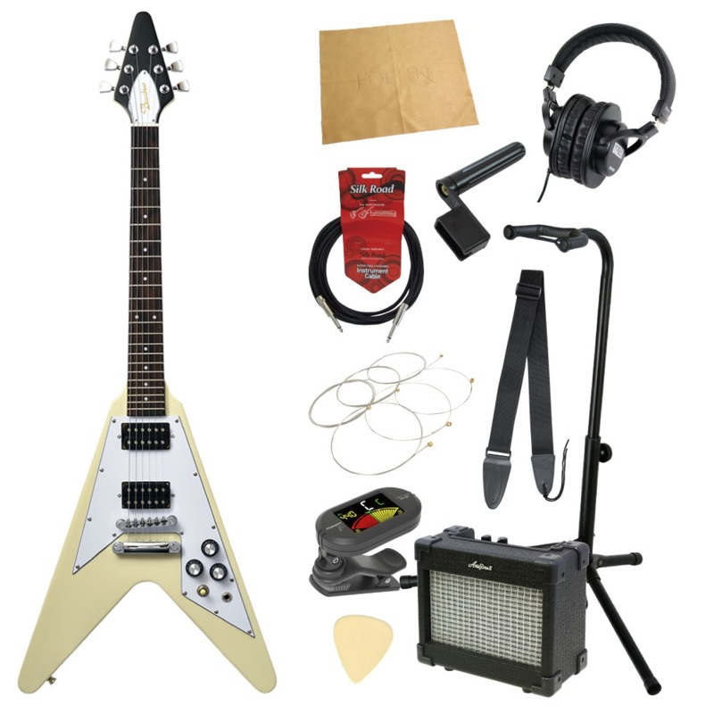 ミニエレキギター入門11点セット BACCHUS BFV-Mini OWH