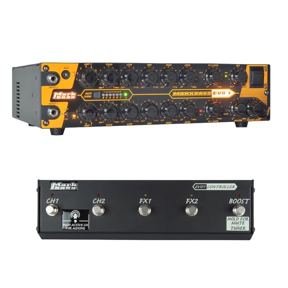 Markbass MAK-EVO1 & MAK-EVO1/CTR EVO1 ベースアンプヘッド&専用フットスイッチセット