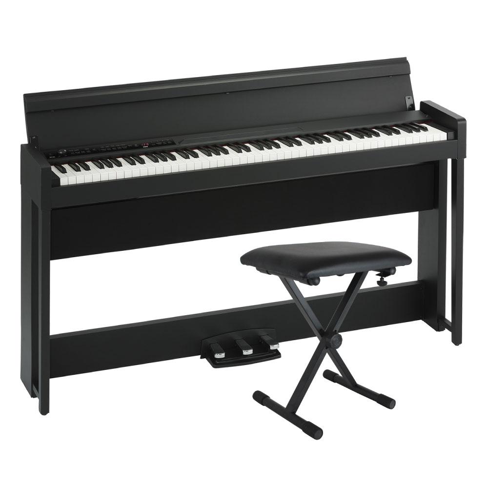 KORG C1 AIR BK 電子ピアノ Dicon Audio SB-001 キーボードベンチセット
