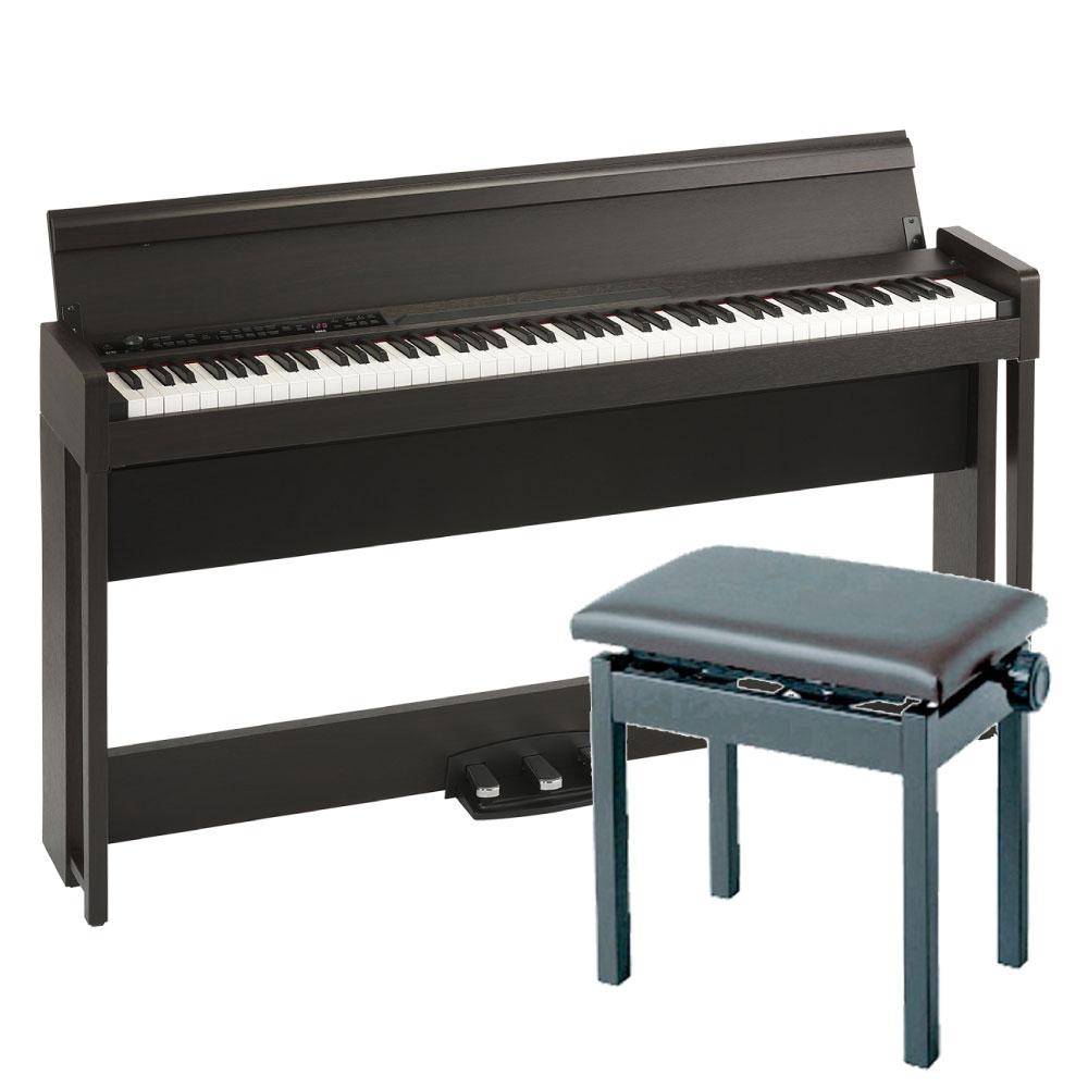 KORG C1 AIR BR 電子ピアノ KORG PC-300BK キーボードベンチセット