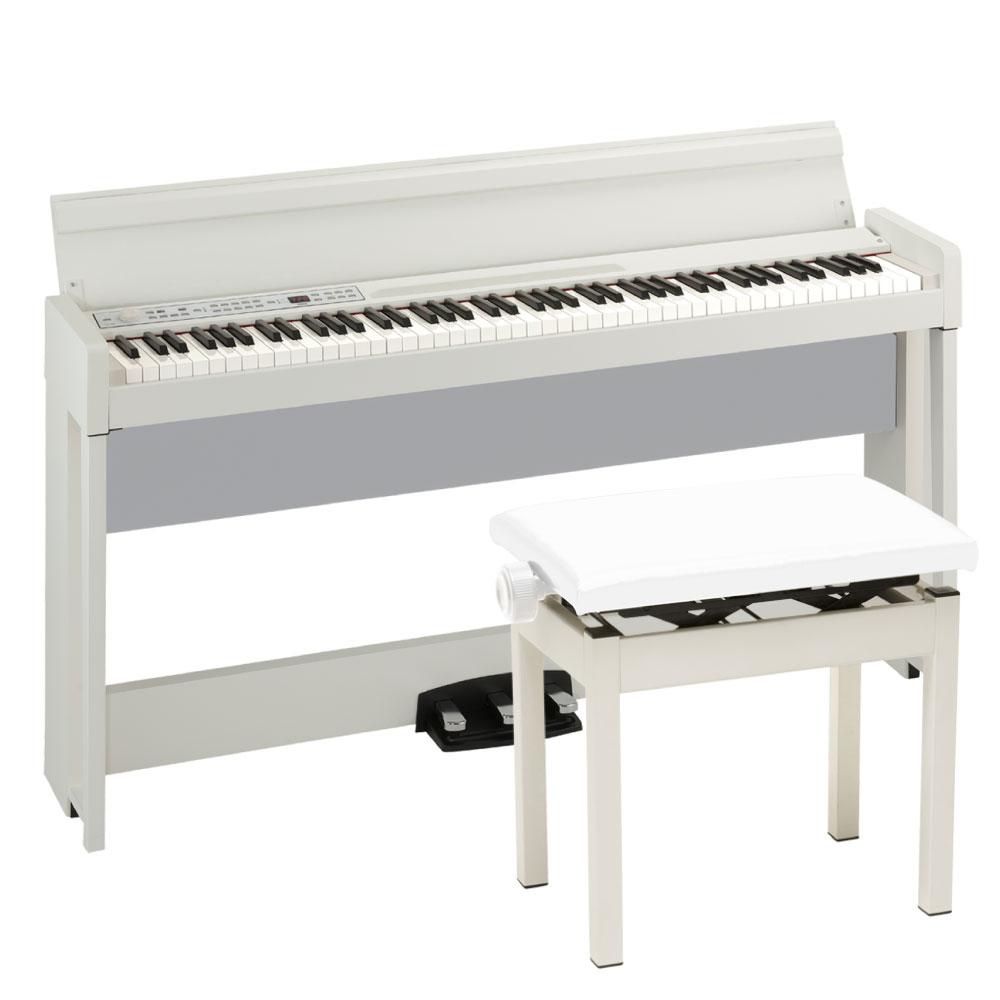KORG C1 AIR WH 電子ピアノ KORG PC-300WH キーボードベンチセット