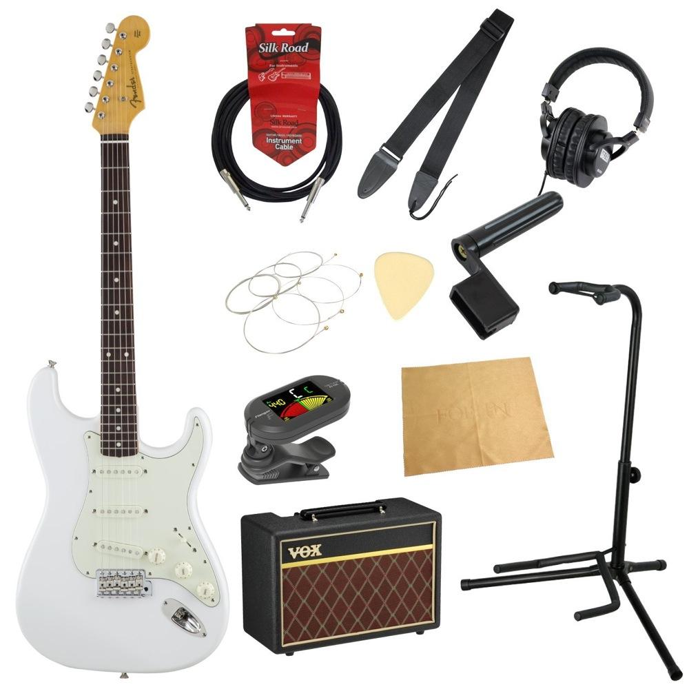 フェンダーから始める!大人の入門セット Fender Made in Japan Traditional '60s Stratocaster AWT エレキギター VOXアンプ付 11点セット