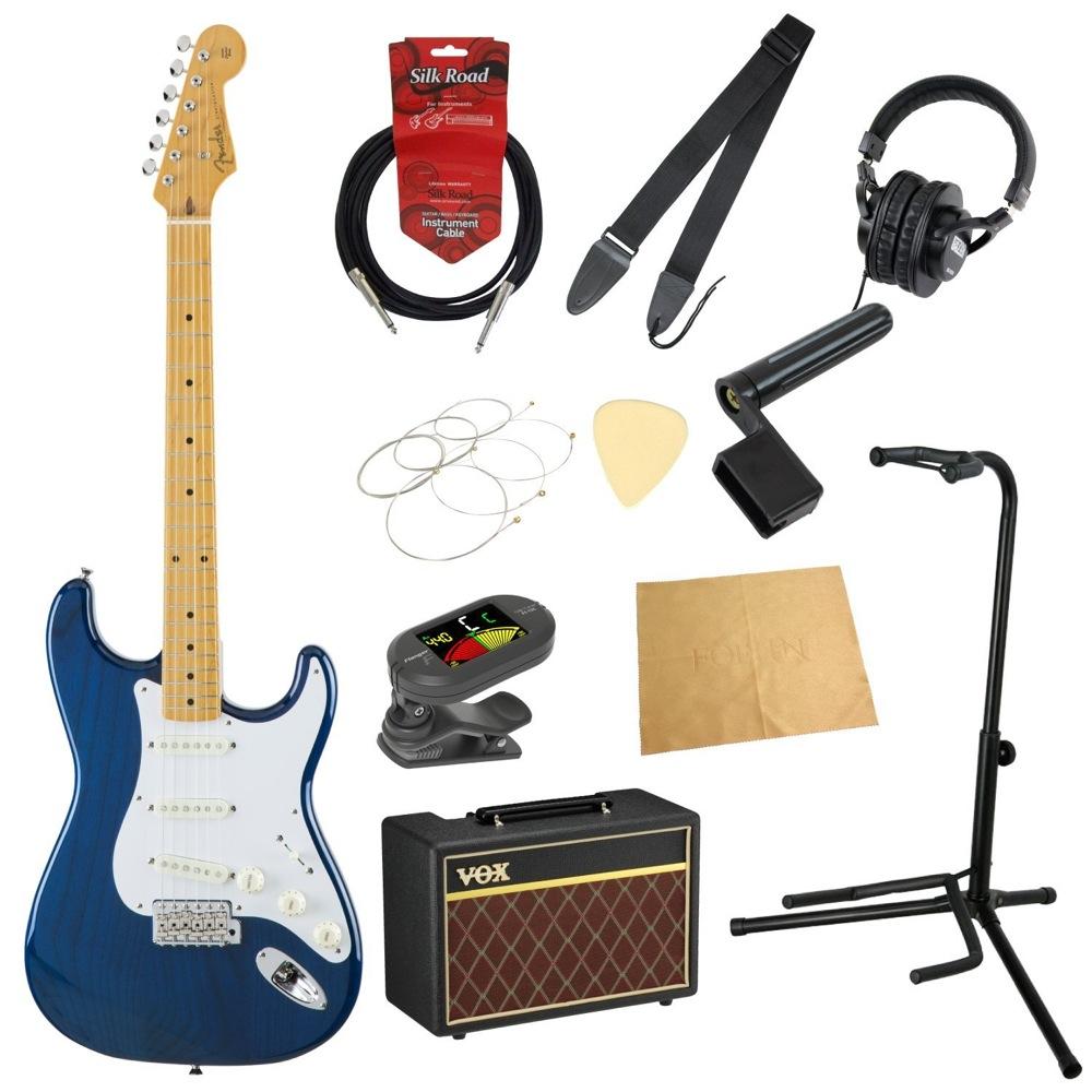 フェンダーから始める!大人の入門セット Fender Made in Japan Traditional '58 Stratocaster SBT エレキギター VOXアンプ付 11点セット