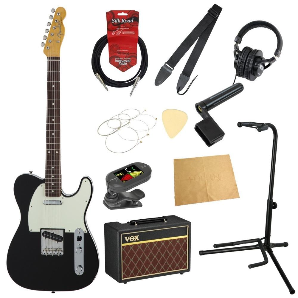 フェンダーから始める!大人の入門セット Fender Made in Japan Traditional 60s Telecaster Custom BLK エレキギター VOXアンプ付 11点セット