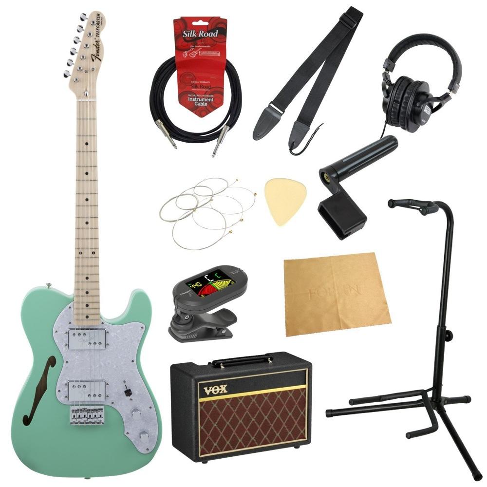 フェンダーから始める!大人の入門セット Fender Made in Japan Traditional '70s Telecaster Thinline SFG エレキギター VOXアンプ付 11点セット