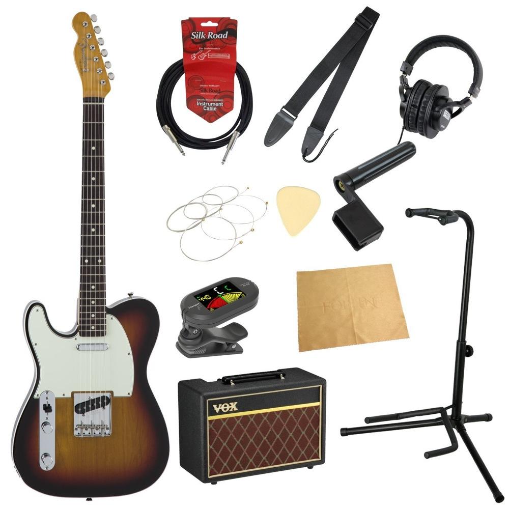 フェンダーから始める!大人の入門セット Fender Made in Japan Traditional 60s Telecaster Custom Left-Hand 3TSB レフティ エレキギター VOXアンプ付 11点セット