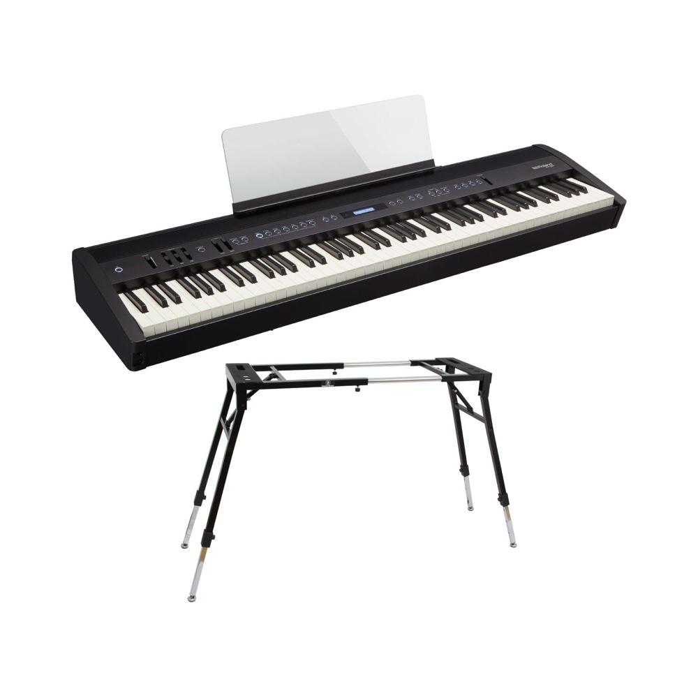 ROLAND FP-60 BK Digital Piano 電子ピアノ Dicon Audio KS-060 スタンド付き セット