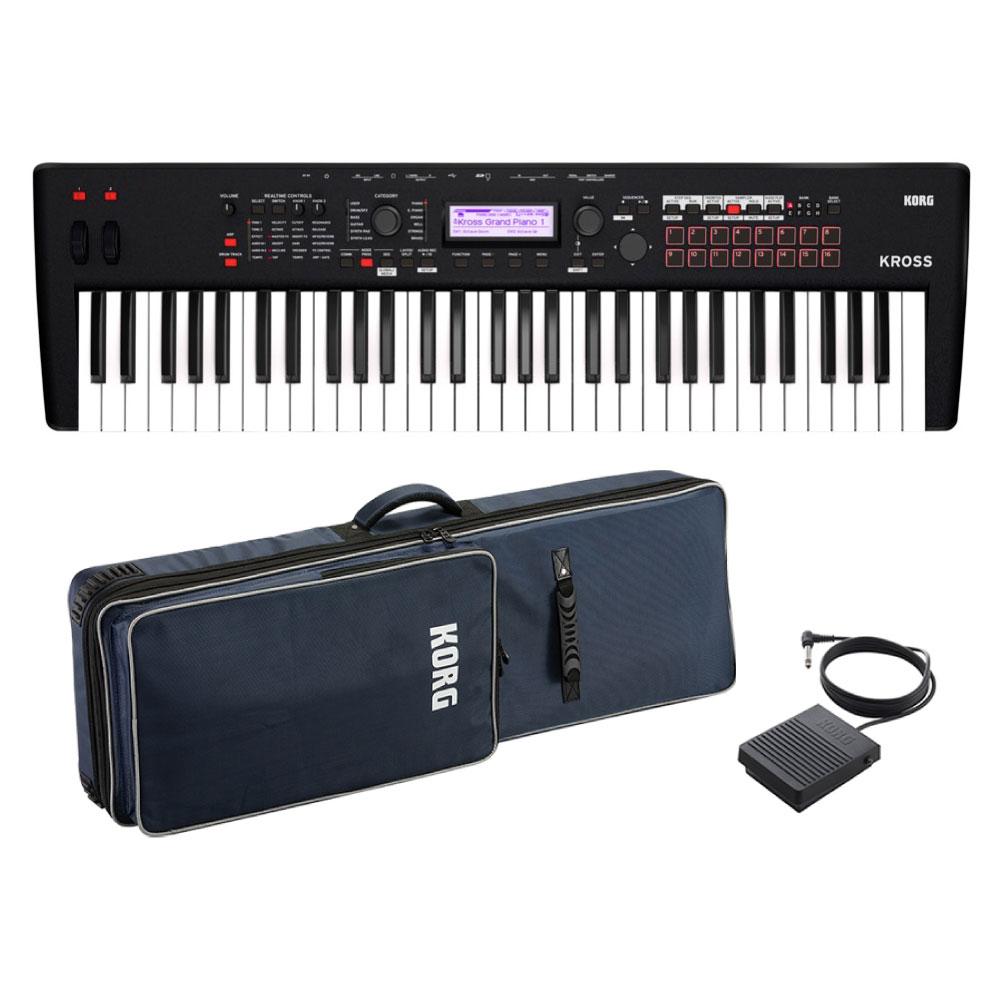 KORG KROSS2-61-MB 純正ソフトケース&フットスイッチ付きセット ミュージックワークステーションシンセサイザー