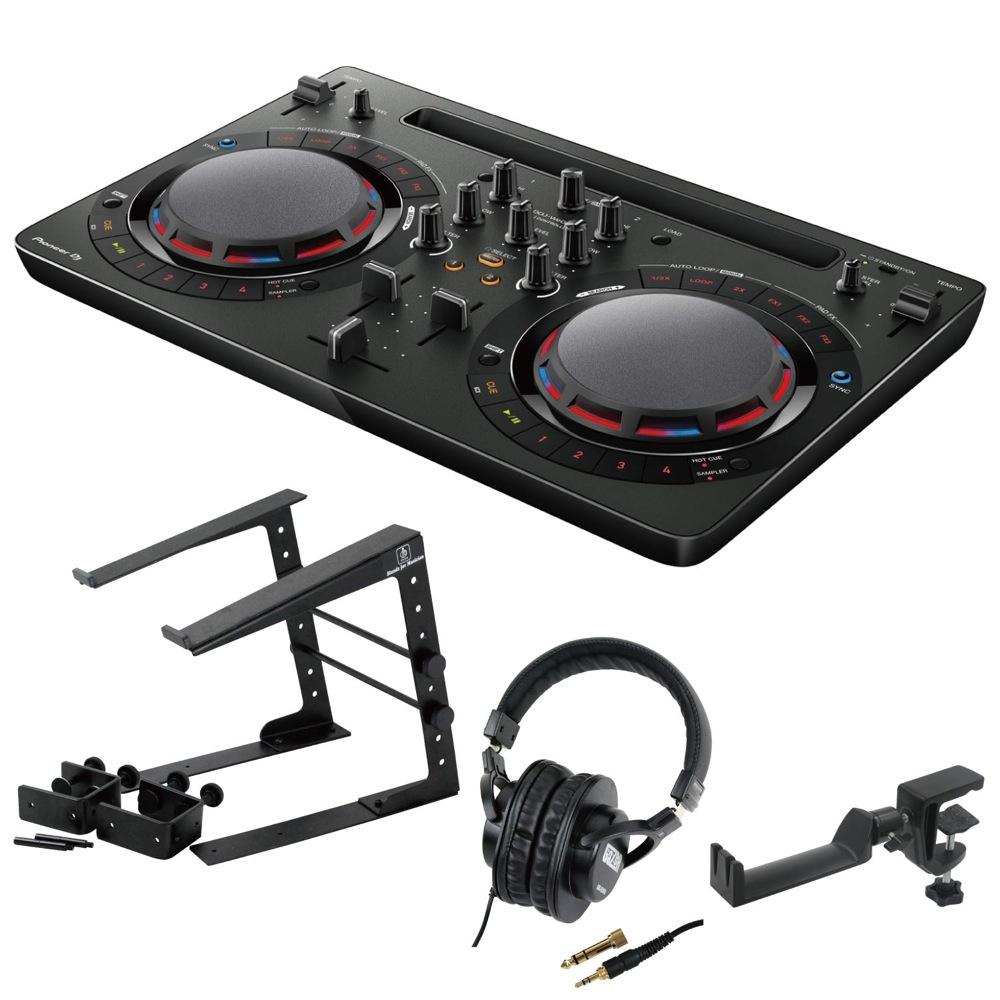 Pioneer DDJ-WEGO4-K black DJコントローラー LPS-002 ラップトップスタンド SD GAZER SDG-H5000 ヘッドフォン SEELETON ヘッドホンハンガー 4点セット