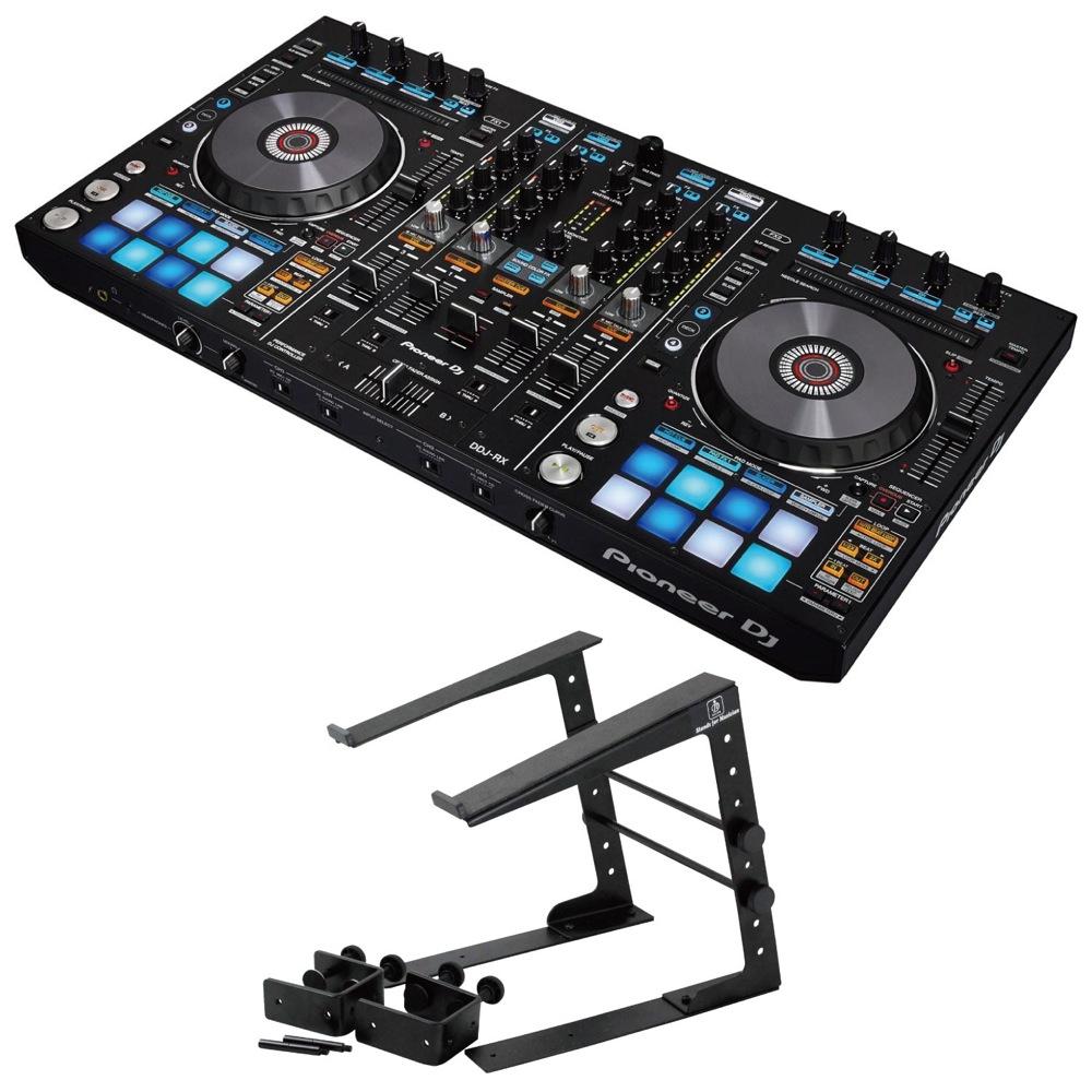 Pioneer DDJ-RX DJコントローラー Dicon Audio LPS-002 ラップトップスタンド 2点セット