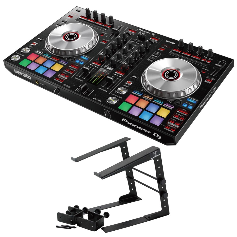 Pioneer DDJ-SR2 DJコントローラー Dicon Audio LPS-002 ラップトップスタンド 2点セット