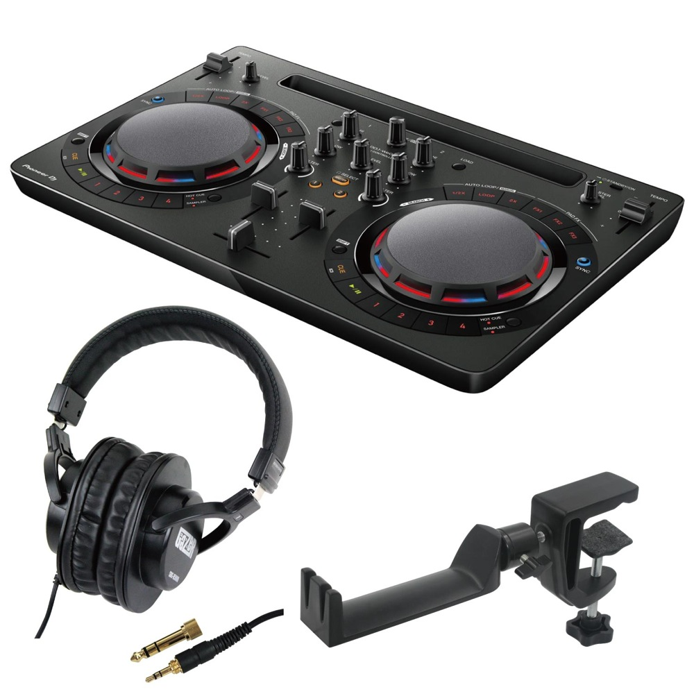 Pioneer DDJ-WEGO4-K black DJコントローラー SD GAZER SDG-H5000 ヘッドホン SEELETON SMH-1 ヘッドホンハンガー 3点セット