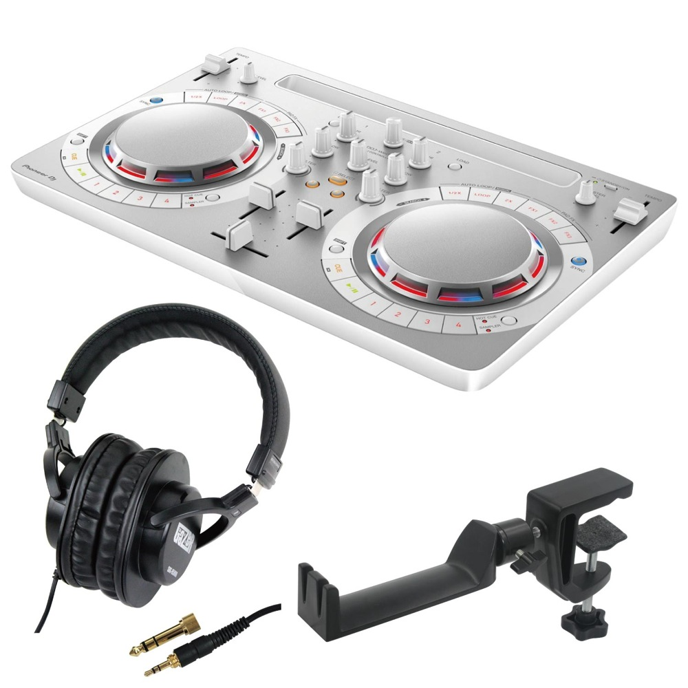 Pioneer DDJ-WEGO4-W white DJコントローラー SD GAZER SDG-H5000 ヘッドホン SEELETON SMH-1 ヘッドホンハンガー 3点セット