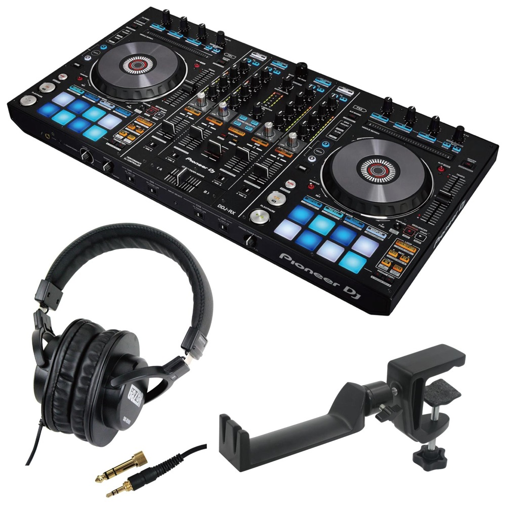 Pioneer DDJ-RX DJコントローラー SD GAZER SDG-H5000 ヘッドホン SEELETON SMH-1 ヘッドホンハンガー 3点セット