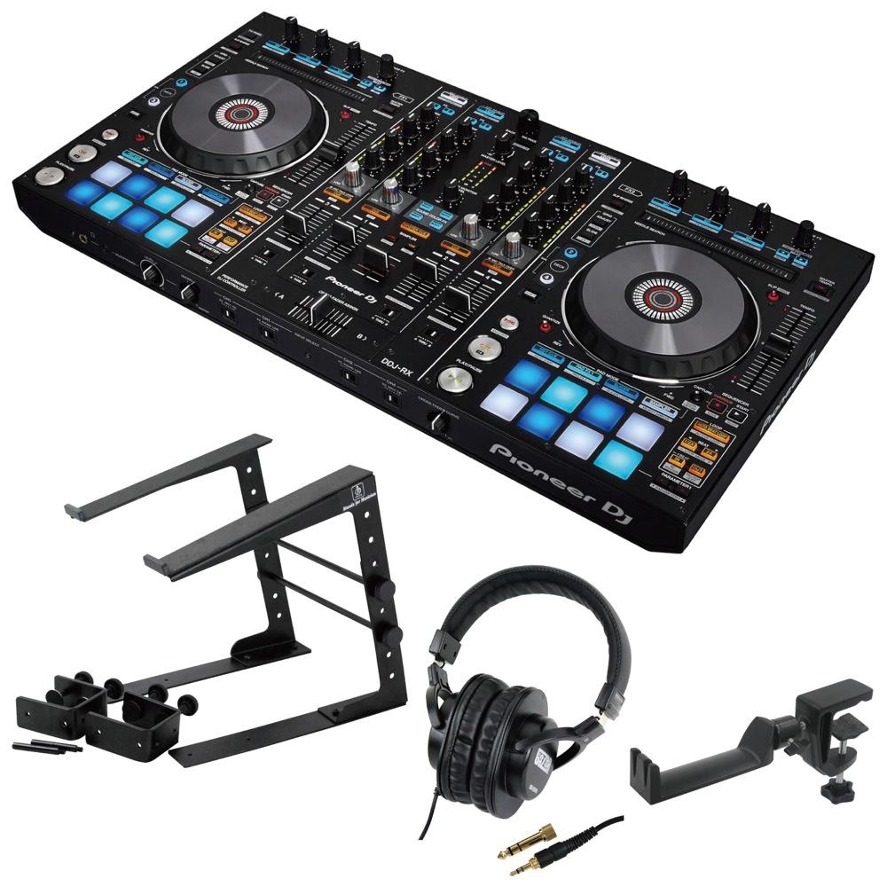 Pioneer DDJ-RX DJコントローラー LPS-002 ラップトップスタンド SD GAZER SDG-H5000 ヘッドフォン SEELETON ヘッドホンハンガー 4点セット