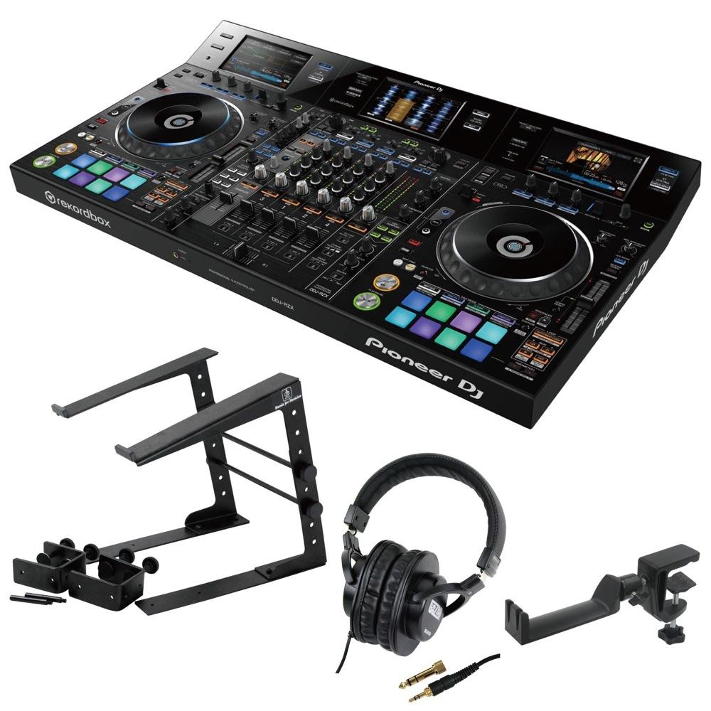 Pioneer DDJ-RZX DJコントローラー LPS-002 ラップトップスタンド SD GAZER SDG-H5000 ヘッドフォン SEELETON ヘッドホンハンガー 4点セット