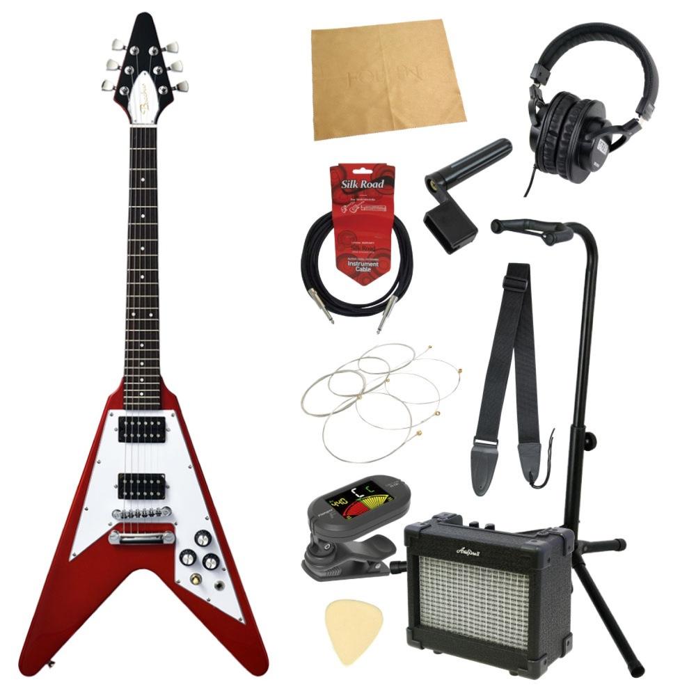ミニエレキギター入門11点セット BACCHUS BFV-Mini CAR