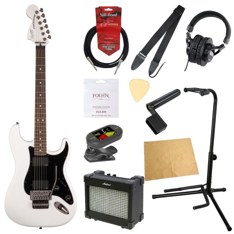エレキギター入門11点セット Squier Contemporary Active Stratocaster HH Olympic White