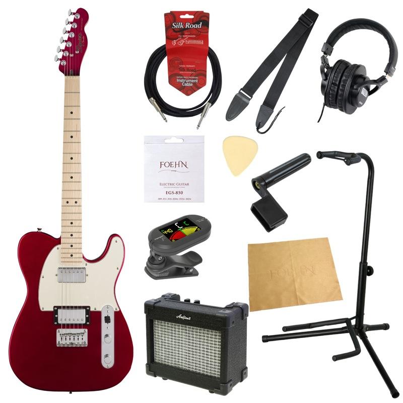 エレキギター入門11点セット Squier Contemporary Telecaster HH Dark Metallic Red