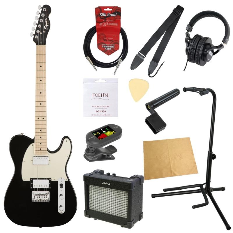 エレキギター入門11点セット Squier Contemporary Telecaster HH Black Metallic