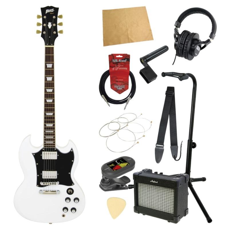 エレキギター入門11点セット BLITZ by ARIA BSG-STD WH