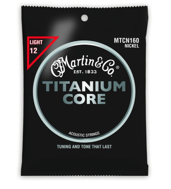 MARTIN MTCN-160 Titanium Core Light Gauge チタニウム・コア アコースティックギター弦×5セット